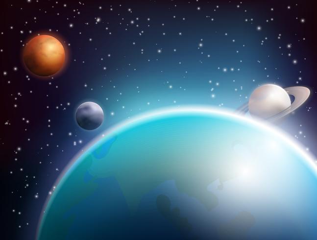 Gekleurde ruimte achtergrond vector