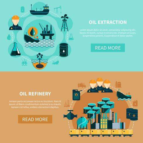 Petroleum transport Banners Set vector