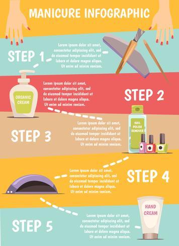 manicure infographic set vector