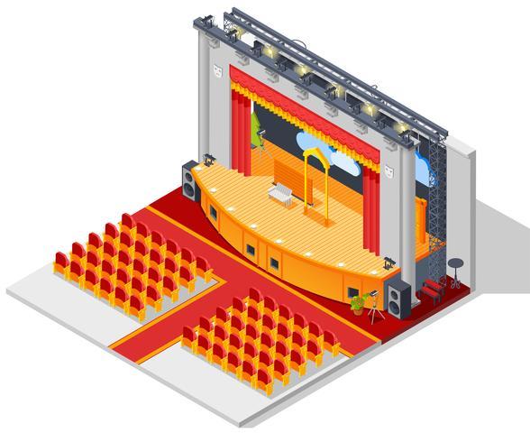 Theater interieurconcept vector