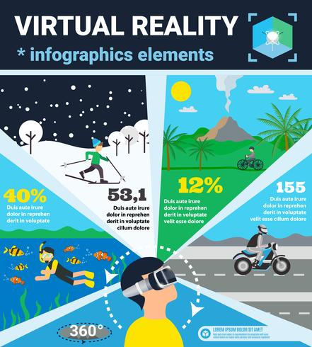 virtual reality infographics vector