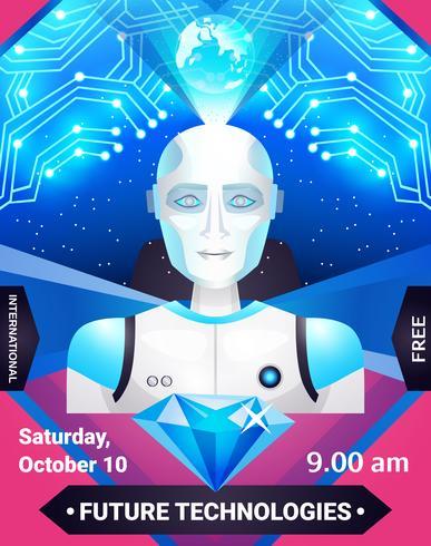 Toekomstige technologieën Poster vector