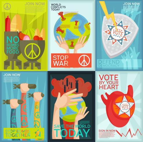 propagandaposters geplaatst vector