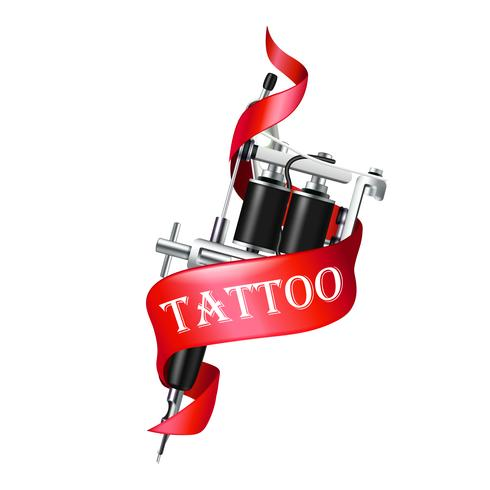 Tattoo machine lint vector