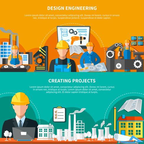 Industrieel ontwerp banners collectie vector