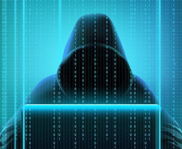 Hackercode realistische samenstelling vector