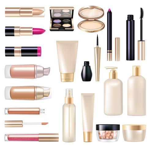 Make-up artikelen Super Set vector