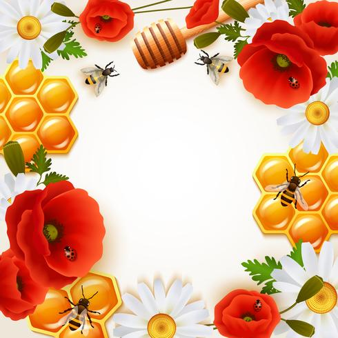 Honing gekleurde achtergrond vector