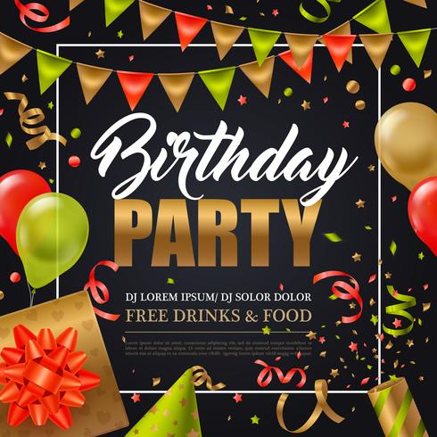 Verjaardagspartij Poster vector