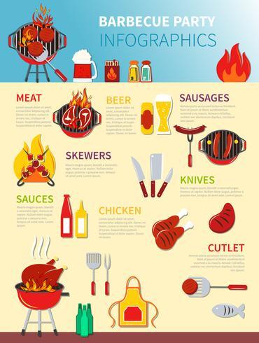 Barbecue partij Infographics vector