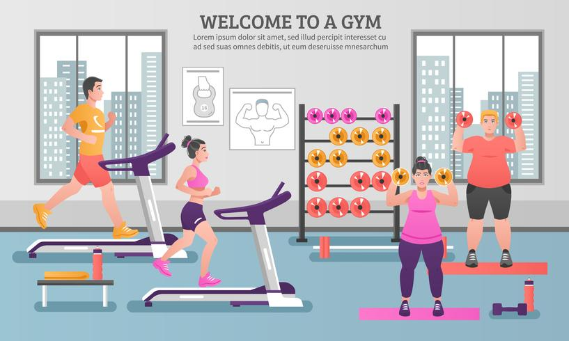 Fitness gekleurde samenstelling vector