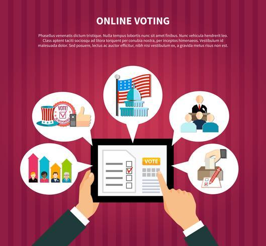 Online stemmen bij verkiezingen vector