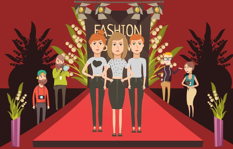 Modeshow Catwalk-samenstelling vector