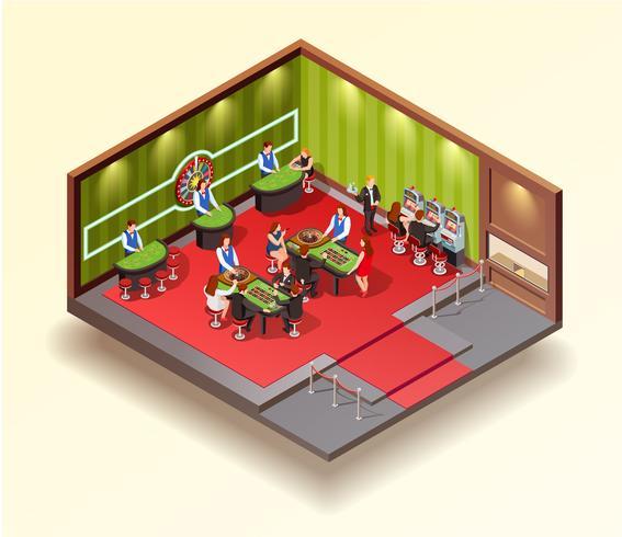 Casino isometrisch ontwerpconcept vector