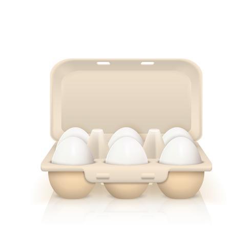 Eieren in vak illustratie vector