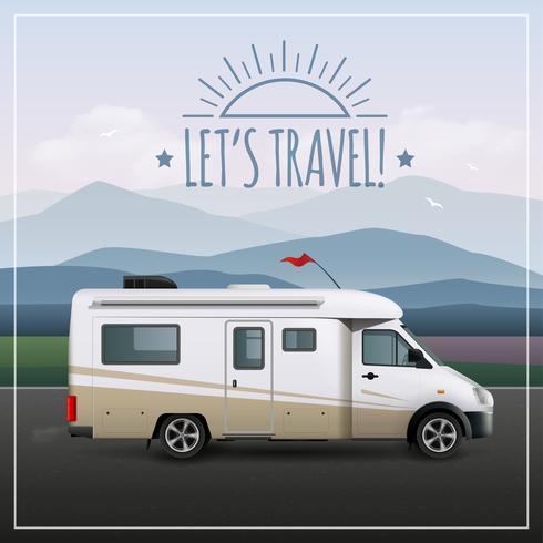 Laat S Travel Poster vector