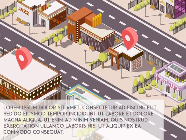 Entertainmentplaatsen in City Set vector