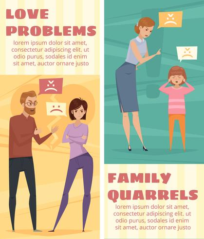 Conflict Verticale Banners vector