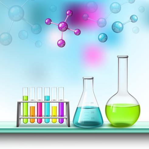 Kleurenbuizen En Moleculen Samenstelling vector