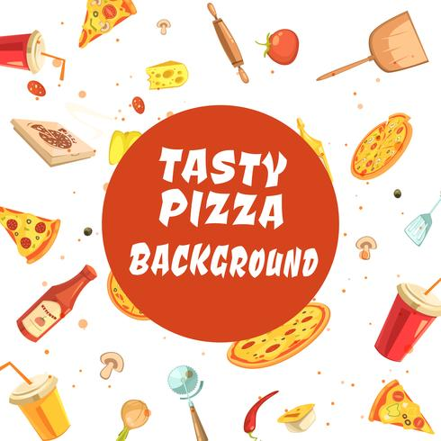 Smakelijke pizza naadloze patroon maken vector