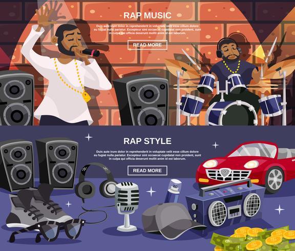Rap muziekbannerset vector
