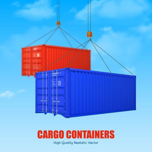 vrachtcontainer poster vector