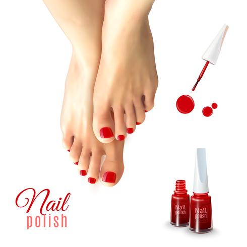 Nagellak voor pedicure vector
