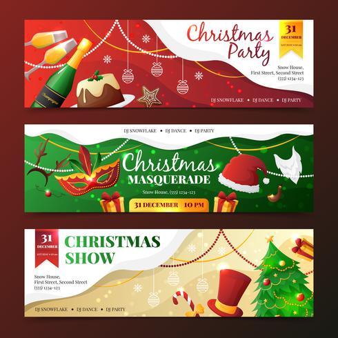 Kerstfeest uitnodiging Banners vector