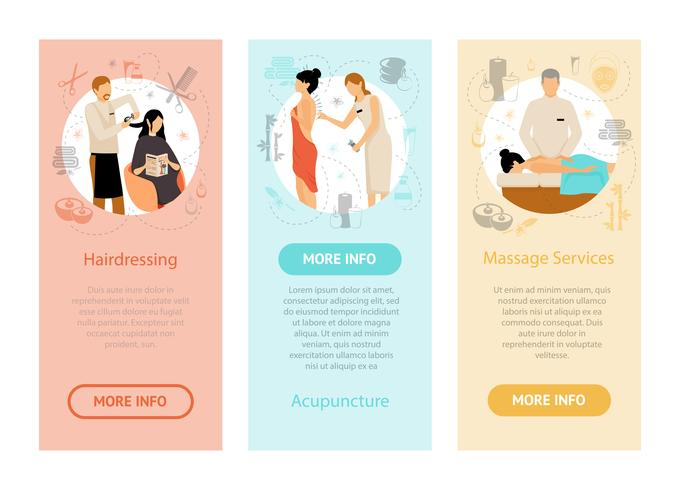 Beauty Spa Salon Mensen Verticale Banners vector