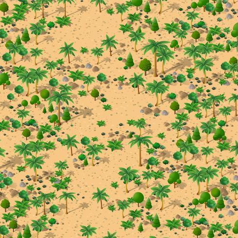 Isometrisch natuurlijk landschap vector