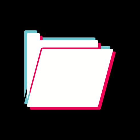 Map pictogram ontwerp vector