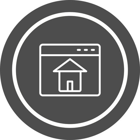 Homepage pictogram ontwerp vector