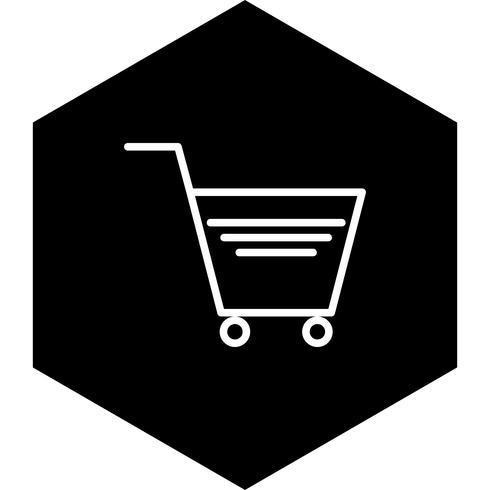 Winkelwagen pictogram ontwerp vector