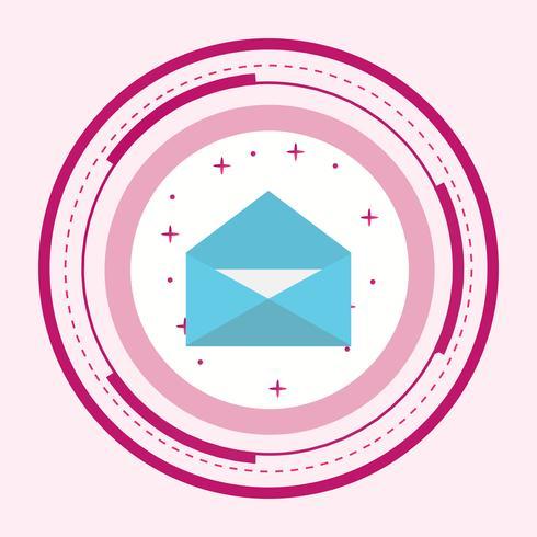 Envelop pictogram ontwerp vector