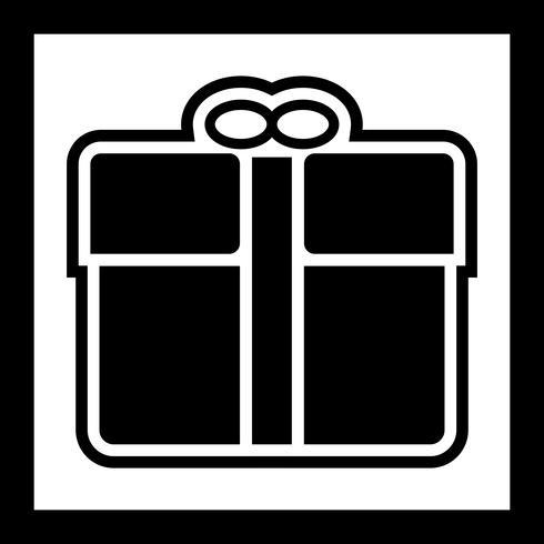 Gift pictogram ontwerp vector