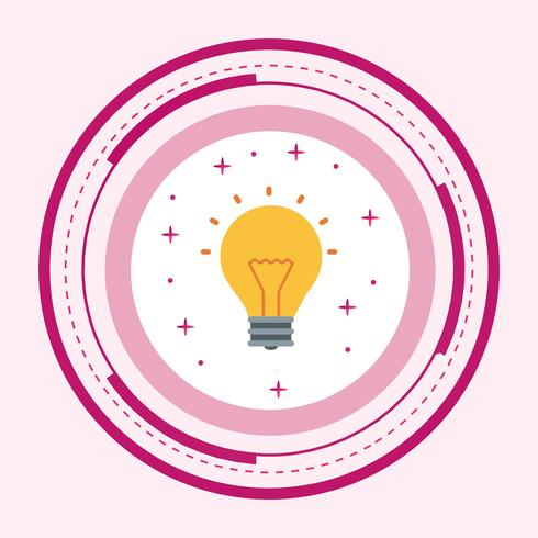 Bulb pictogram ontwerp vector