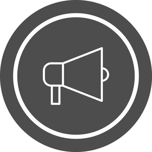 Aankondiging pictogram ontwerp vector