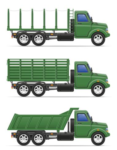 vrachtvrachtwagen voor transport van goederen vectorillustratie vector