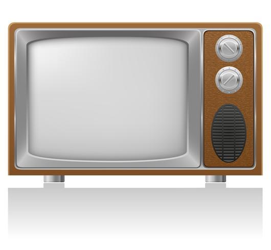 oude tv vectorillustratie vector