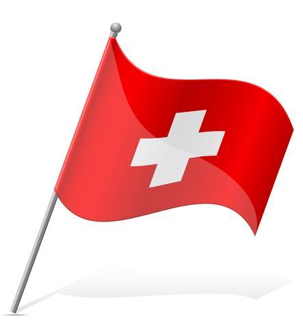 vlag van Zwitserland vectorillustratie vector