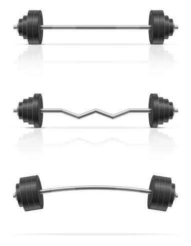 metaal barbell voor de spierbouw in gymnastiek vectorillustratie vector