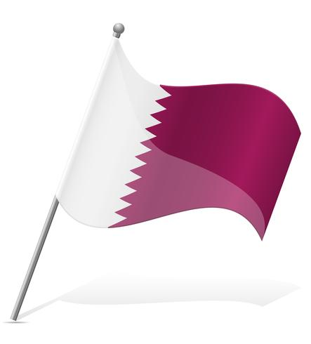 vlag van Qatar vectorillustratie vector