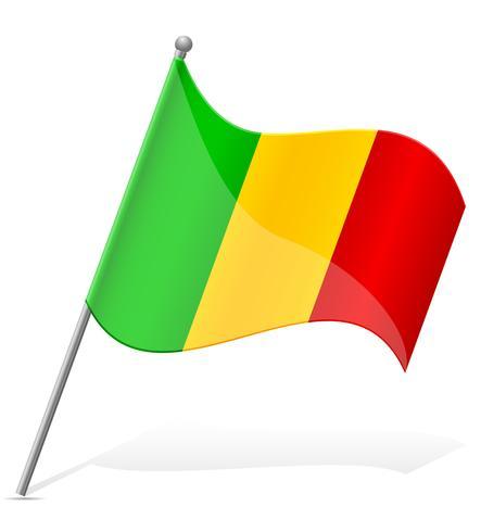 vlag van Mali vectorillustratie vector