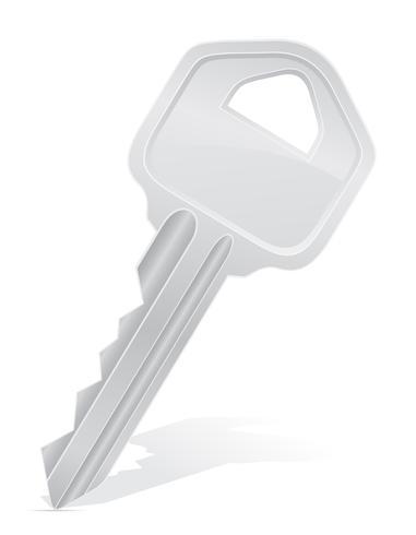 sleutel deurslot vectorillustratie vector