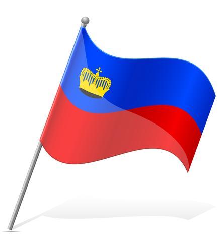 vlag van Liechtenstein vector illustratie