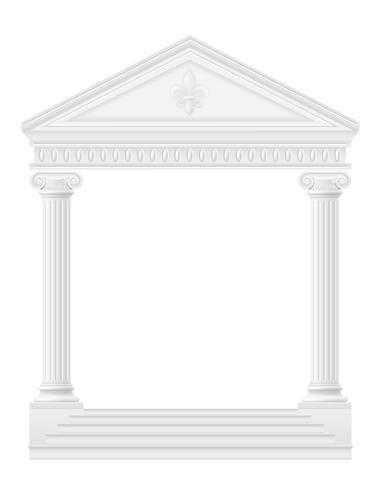 antieke boog voorraad vectorillustratie vector
