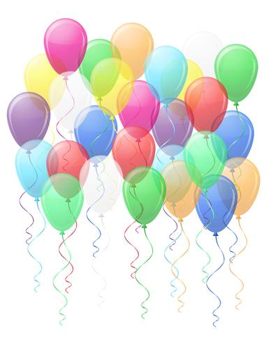 gekleurde transparante ballonnen vectorillustratie EPS10 vector