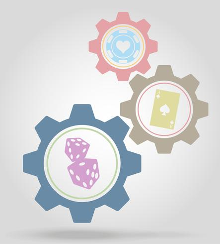 casino versnelling mechanisme concept vectorillustratie vector