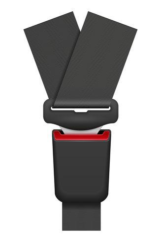 Autogordel voor veiligheid in geval van een ongeval vectorillustratie vector