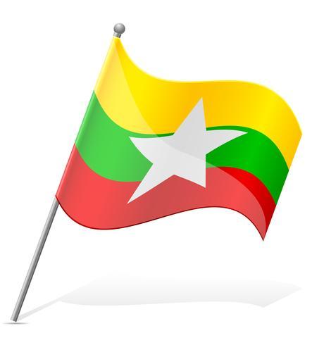 vlag van Myanmar vectorillustratie vector
